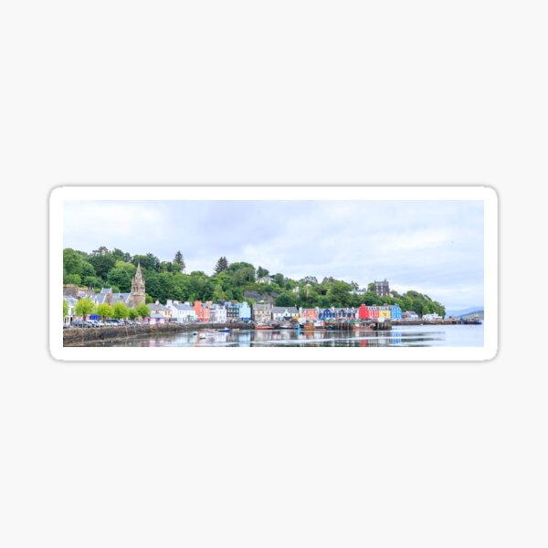 Tobermory the capital of the isle of Mull Sticker