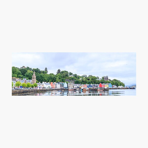 Tobermory the capital of the isle of Mull Photographic Print