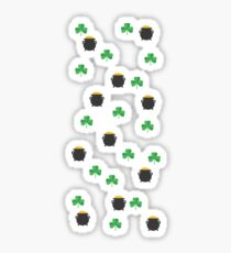 St. Patrick's Day Clover and Pot of Gold Sticker