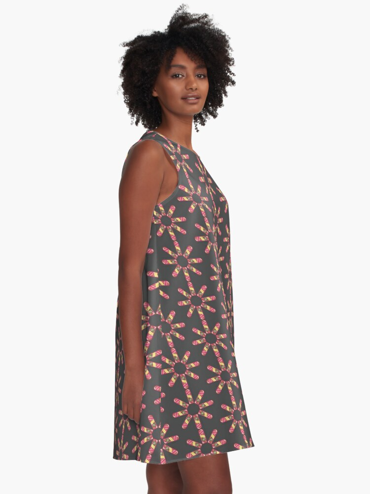 Alternate view of Hoverboard Kaleidoscope A-Line Dress