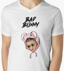 Bad Bunny - Face Men's V-Neck T-Shirt