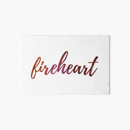 Fireheart- Throne of Glass Art Board Print