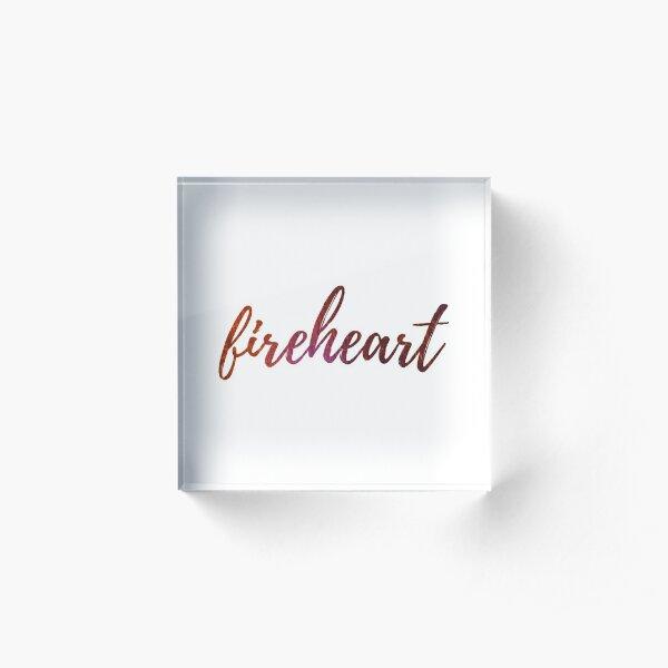 Fireheart- Throne of Glass Acrylic Block
