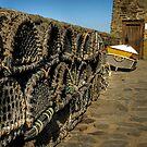 Lobster pots in Lynmouth, North Devon by hans p olsen