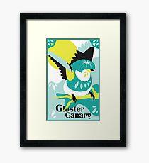 Canary art print poster design bird shirt wall art original art print Framed Print