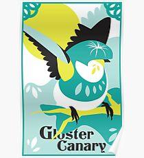 Canary art print poster design bird shirt wall art original art print Poster