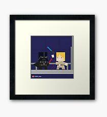 Star Wars - Darth Vader vs Luke Skywalker Framed Print