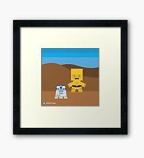 Star Wars - R2D2 and C3PO Framed Print