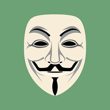 Green Anonymous Face Mask by SourPeach
