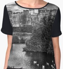 Caerphilly Castle Western Towers mono Chiffon Top