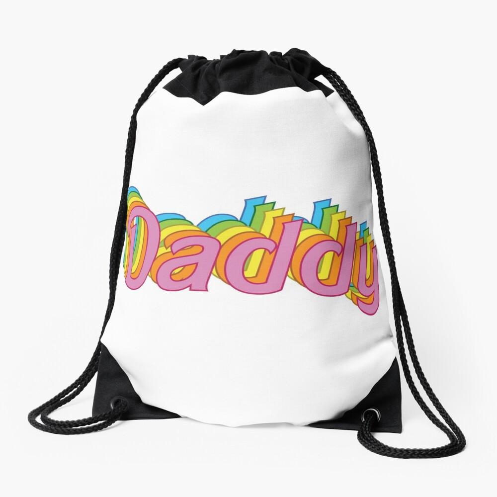 Retro Daddy Drawstring Bag