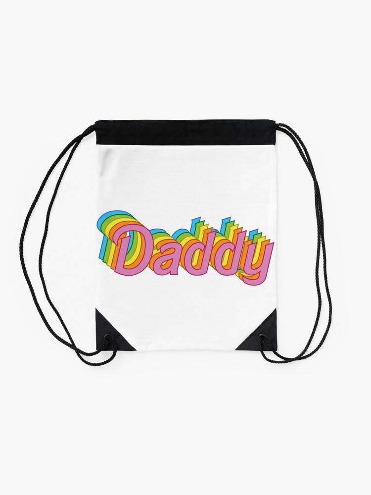 Alternate view of Retro Daddy Drawstring Bag