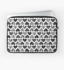 Wild Hearts in Black & White Laptop Sleeve