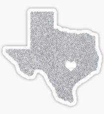 Austin, TX Glitter State Sticker