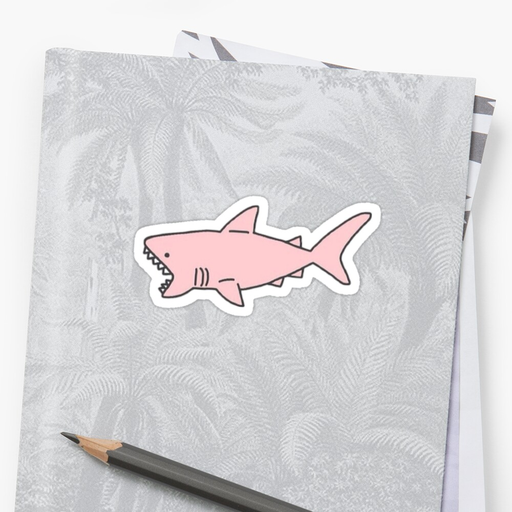 pink shark Stickers
