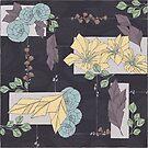 Flower Fracas Purple by Skuishy