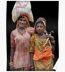 Gipsies in Jaisalmer, Rajasthan India Poster