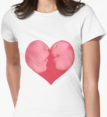 Valentine Kiss Women's Fitted T-Shirt