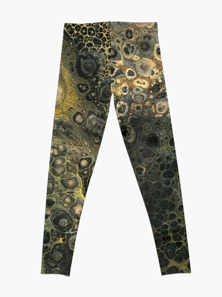 Alternate view of Fluid Black And Gold Leggings