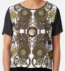 CyberPunk Steampunk Technopunk Clothing  #CyberPunk #Steampunk #Technopunk Chiffon Top