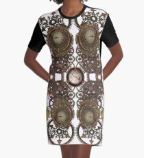 CyberPunk Steampunk Technopunk Clothing  Graphic T-Shirt Dress