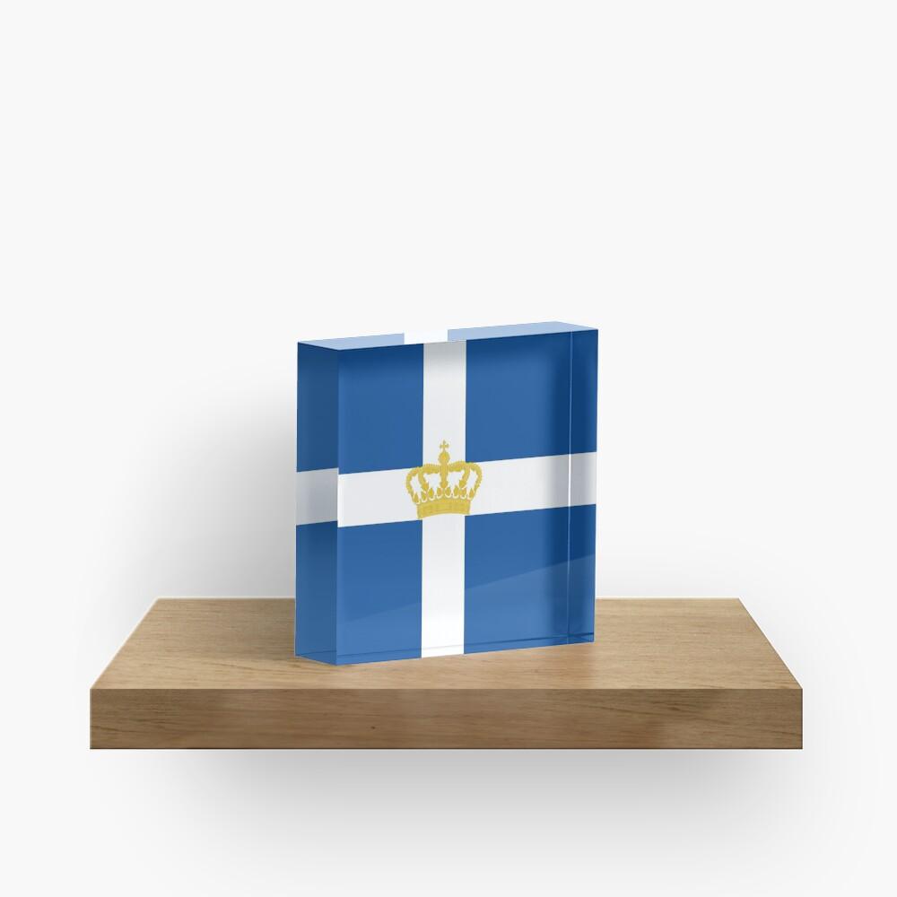 Naval Jack of Kingdom of Greece Acrylic Block
