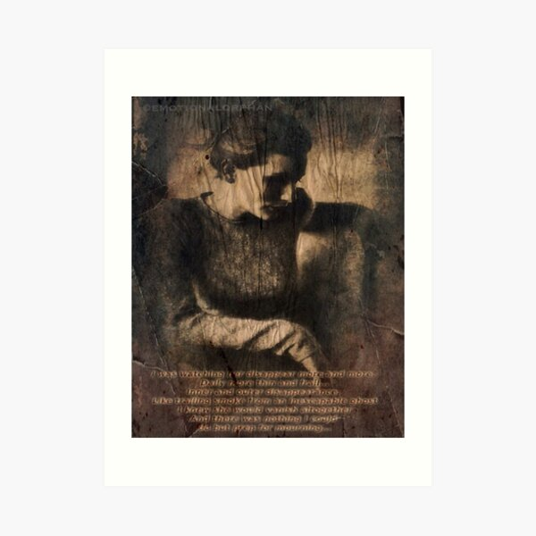 disappear until mourning Art Print