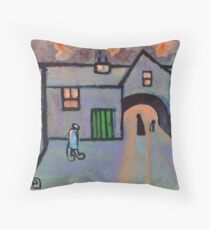 The old courtyard Throw Pillow