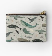 Whale song gray Studio Pouch