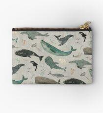 Whale song gray Zipper Pouch