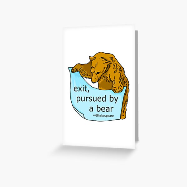 Exit Pursued by Bear Shakespeare Art Greeting Card