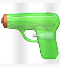 Squirt Gun Emoji Poster
