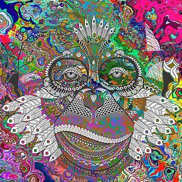 Trippy Monkey by SourPeach