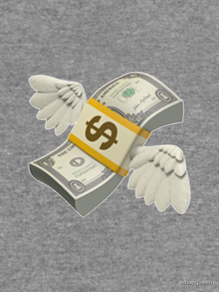 Flying Money Emoji Lightweight Sweatshirt By Emojiqueen Redbubble