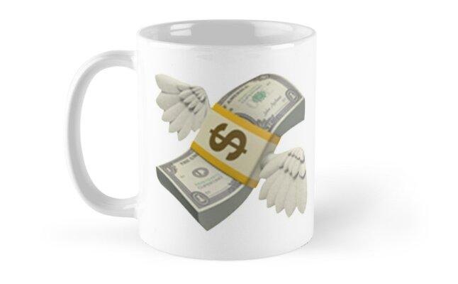 Flying Money Emoji Mugs By Emojiqueen Redbubble