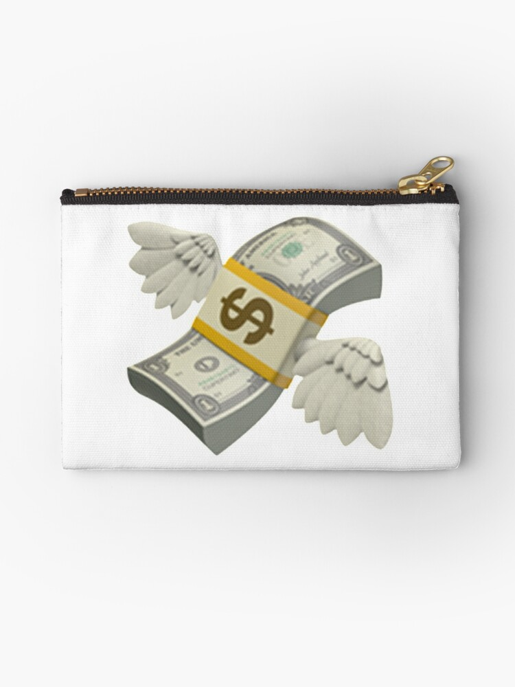 Flying Money Emoji Studio Pouches By Emojiqueen Redbubble