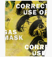Gas Mask: Correct Use Poster