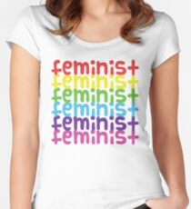 Feminist Rainbow Women's Fitted Scoop T-Shirt
