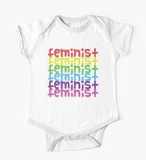 Feminist Rainbow One Piece - Short Sleeve