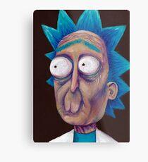 Rick and Morty-- trippy Rick Metal Print