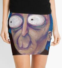 Rick and Morty-- trippy Rick Mini Skirt