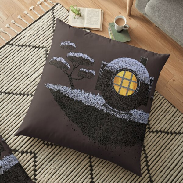 Floating Diver Home Sweet Home Floor Pillow