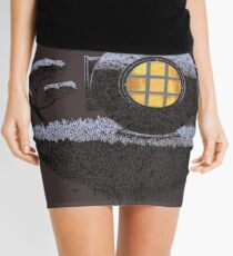 Floating Diver Home Sweet Home Mini Skirt