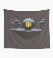 Floating Diver Home Sweet Home Wall Tapestry