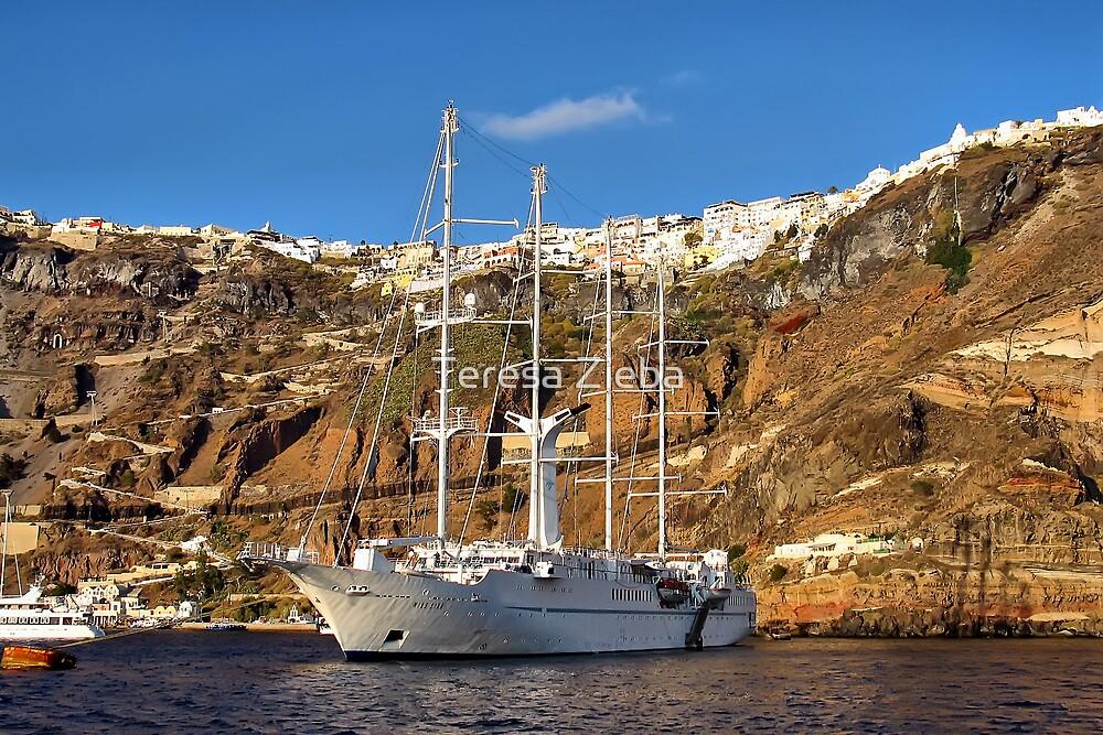 Santorini Cliffs by Teresa Zieba