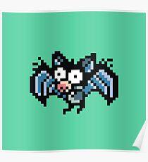 8 Bit Bat Poster