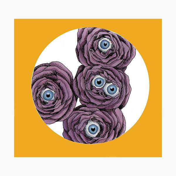 Eye Flower Inside Photographic Print