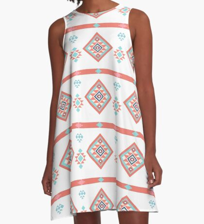 AFE Geometric Tribal A-Line Dress