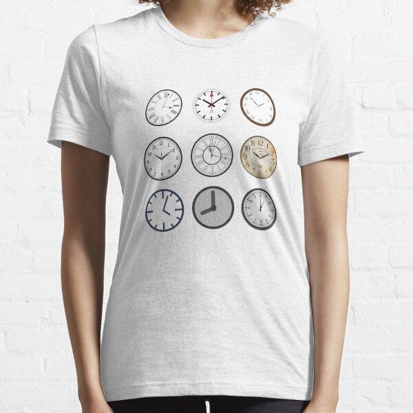 Grandfather Time Turner Clocks Hourglass Tick Tock Essential T-Shirt