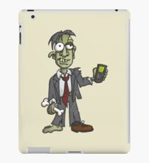 Zombie with Cell Phone iPad Case/Skin